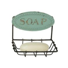 Quaint Blue Soap Dish | dotandbo.com  Thought this might be a cute little soap dish for our teeny tiny bathroom downstairs
