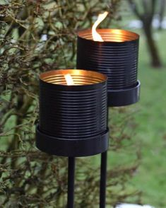 Outdoor candle in the can by Living BY HeartCreate a warm and cozy atmosphere with the stylish outdo Outdoor Candles, String Lights Outdoor, Dream Garden, Garden Art, Black Candles, Garden Inspiration, Backyard Landscaping, Beautiful Gardens, Outdoor Gardens