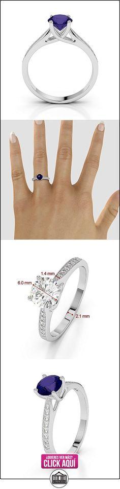 AG & Sons Hombre  950 Platino  platino redondo Round Brilliant   GH diamante tanzanita FINERING  ✿ Joyas para hombres especiales - lujo ✿ ▬► Ver oferta: https://comprar.io/goto/B01HUBBFB4