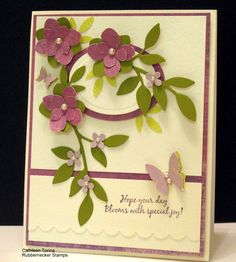 Gorgeous Purple Blooms Card...