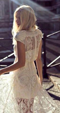 Bohemian wedding dress