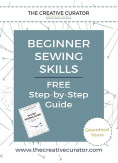 Get your Free Sewing Guide - an essential tool for sewing beginners - a sewing…