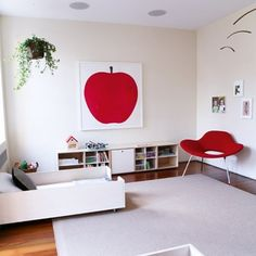 toddler room {print from Enzo Mari}