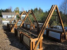 Raised bed gardens can save you loads of hours of digging out your yard, bring great garden design to your property, and give your family food to eat for a lifetime! Check out these 9 DIY Raised Bed G Vertical Vegetable Gardens, Vegetable Garden Design, Diy Garden, Garden Boxes, Garden Planters, Garden Projects, Garden Landscaping, Garden Ideas, Fence Ideas