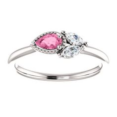 NEW! Pink Sapphire & Diamond Ring. Click through for product details OR to locate a jeweler near you!