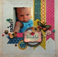 Baby+Scrapbook+Layouts   Vintage baby bed scrapbook-layouts