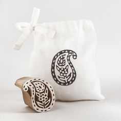 One of my favorite discoveries at WorldMarket.com: Small Wooden Paisley Stamp