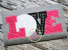 I2S Volleyball Love 2 Applique design