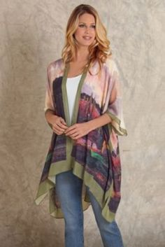 Silk Scenic Cardigan from Soft Surroundings