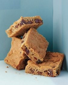 Chocolate Cherry Blondies from Martha Stewart -- anything made with chocolate and dried cherries must be good!