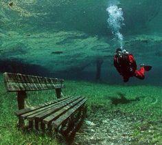 green lake, na Áustria