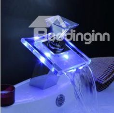New Arrival Single handle waterfall LED Bathroom & Kitchen faucet Item Code: 10595753