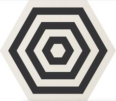 carrelage COREbasics Ornamenta Gamma Due, noir et blanc motif Target, à Paris au show-room David B