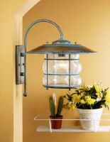 Fredeco - Rustic Outdoor Wall Sconce Lustrarte 1011 Grelha