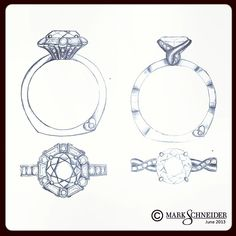 #new #engagement #ring #design #sketches are happening! Which one do you like…