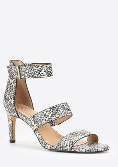 Ann Taylor Katie Exotic Embossed Leather Sandals