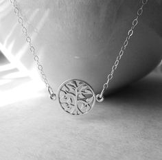 Tree of Life Necklace / Sterling Silver Tree of by SilverorBronze, $29.50