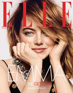Emma Stone en el september issue de Elle.