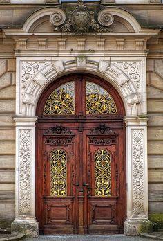 Gorgeous carved door...Bavaria Germany