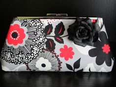 Clutch purse for bridesmaid, prom, or spring. $35.00, via Etsy.