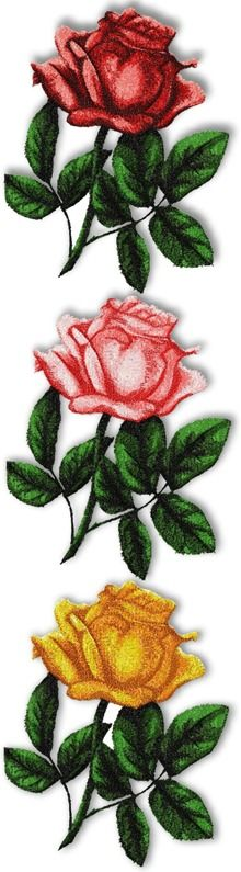 Advanced Embroidery Designs - Mother's Day Rose