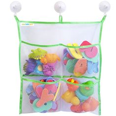 Bath Toy Organizer - Extra Strong - The Only Storage Bag With 3 Suction Cups Easy Baby Gear http://www.amazon.com/dp/B00T3D2NR8/ref=cm_sw_r_pi_dp_kJMpwb09AJ1MD