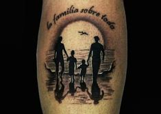 Tatuajes de familia unida Mom Dad Tattoo Designs, Mom Dad Tattoos, Turtle Tattoo Designs, Father Tattoos, Family Tattoo Designs, Tattoo For Son, Family Tattoos, Tattoos For Daughters, Arm Tattoos For Guys