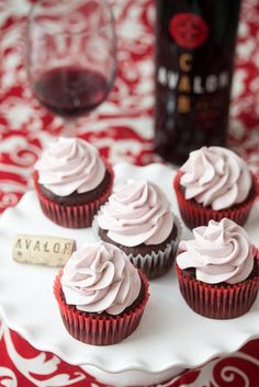 Chocolate Red Wine Cupcakes with Red Wine Buttercream @Avalon Distaso Distaso Winery