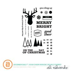Picture 1 of December Daily® Digital Stamp: Good Cheer Version Two by Kelly Purkey