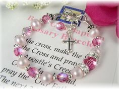 Baptism Rosary Bracelet for Girls - Pink Pearl and Crystal - See more at: http://www.addictivejewelry.com/inc/sdetail/baptism_rosary_bracelet_for_girls___pink_pearl_and_crystal_/260/7718#sthash.VrgrVfdK.dpuf