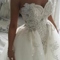 This ornate wedding gown is a haute couture masterpiece. We specialize in custom #weddingdresses for brides that want something a bit different. We can even make #replicadresses for brides who can not afford the original. To get pricing in any design go to www.dariuscordell.com