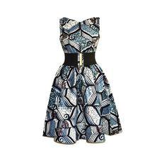 Monochrome Printed Dress Ladies Party Formal by REJOICEinPRINTS