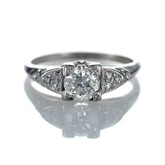 My absolute favorite.... Leigh Jay Nacht Inc. - Art Deco Engagement Ring