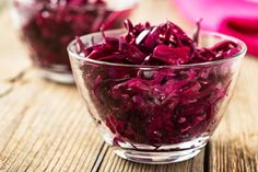 Beet Sauerkraut - 42 Probiotic Rich Vegan & Gluten-Free Recipes, How to Improve Gut Health , Probiotic and Prebiotic Rich Foods, Health Benefits + MORE can all be found in this gut healing vegan recipe round-up! Beet Recipes, Chutney Recipes, Cabbage Recipes, Health Recipes, Drink Recipes, Cooking Recipes, Sauteed Beet Greens, Ginger Chutney, Beet Chips