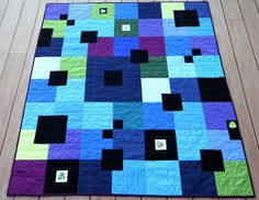 City Park Quilt (Cherry House pattern)    I like the colors and the simple blocks. Might have to make one of these.