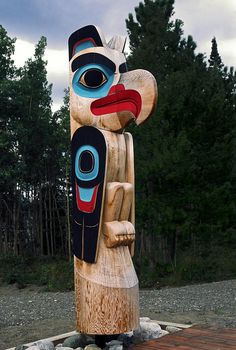 Eagle Clan Totem Pole Photograph by Sally Weigand