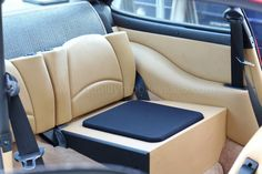 Seats are unusable but we put them to go use, as a subwoofer in this Porsche 911. Single Image Dynamics IDQ10