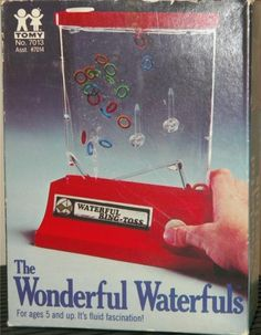 The Wonderful Waterfuls Ring-Toss Game by Tomy, With Original Box Vintage Toys 1960s, Games W, Ring Toss, Childhood Days, Oldies But Goodies, Tossed, Old Things, Toss Game, The Originals