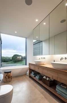 Love the tones in this bathroom