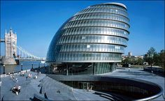 London's City Hall by Norman Foster British Architecture, Innovative Architecture, Classical Architecture, Facade Architecture, Beautiful Architecture, Landscape Architecture, Norman Foster, City Hall London, Lebbeus Woods