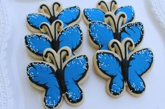 Easy Butterfly Cookie Tutorial from Auntie Bea's Bakery