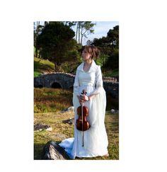 Ivory Empire Waist Wedding Dress. $285.00, via Etsy.