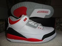 new style 4ca8a c21ad Jordan Air Jordan 3 Retro Fire Red Michael Jordan Basketball Sneakers 11  (New)
