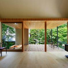 テラスへとつながるリビングダイニング Interior Architecture, Interior And Exterior, Interior Design, Japanese Interior, Japanese House, Home And Living, Ideal Home, Outdoor Living, Living Spaces