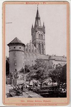 Königsberg in Ost Preussen - Kaliningrad, Südseite Schloß Kabinettfoto  1897