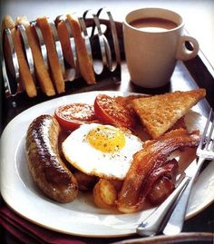 Full English Breakfast... (Photo only) Love the toast stand!