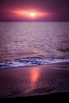 amazing sunset on the sea