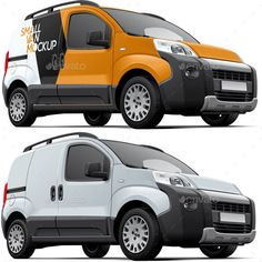 Buy Small Commercial Vehicle Mockup By Busja On GraphicRiver High Quality Layered Psd Of European Light Van Px 300 Dpi RGB With Smart