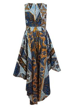 Louisa African print Maxi dress split level hem - OHEMA OHENE AFRICAN INSPIRED FASHION  - 2