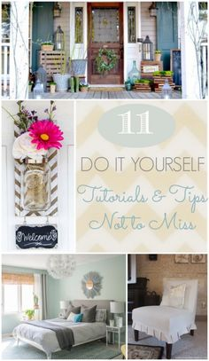 In this collection of 11 Do it Yourself Tutorials & Tips Not to Miss you will learn how to make lighting out of copper pipes and upcycled fishbowls, how to make an easy slipcover for a chair, how to build a herringbone wall, and much more!